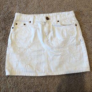 J CREW Denim Skirt Size 00 EUC